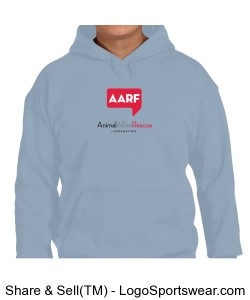 AARF Hoodie - Light Blue Design Zoom