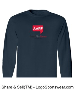 AARF Long Sleeve T-Shirt - Denim Blue Design Zoom