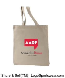 Recycled Cotton AARF Tote Design Zoom