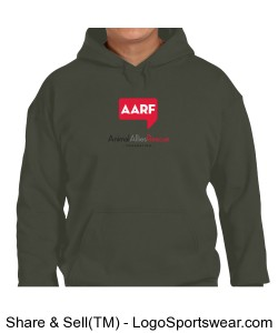 AARF Hoodie - Military Green Design Zoom