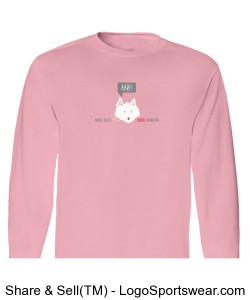 AARF Kitty Long Sleeve T-Shirt - Classic Pink Design Zoom