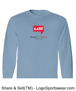 AARF Long Sleeve T-Shirt - Light Blue Design Zoom